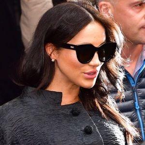 Le Specs Black Sunglasses as seen on Megan Markle